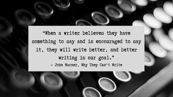 John Warner on Writing 2
